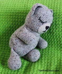 Sleepy Bear Crochet Pattern