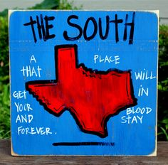 Texas Handpainted Sign from Simply Southern Signs and Bourbon &  Boots