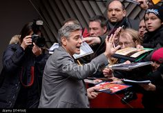 Berlin, Germany. 8th Feb, 2014. George Clooney arrives at 'The Monuments Men' photocall at the 64th Berlin International Film Festival / Berlinale 2014 © dpa picture alliance / Alamy