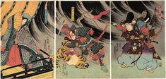 Utagawa Kunisada )Toyokuni III) musha-e (warrior prints)