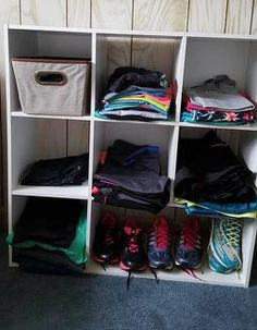 Organizing and Storing running clothes Organizing, Organization, Shoe Rack, Running, Clothes, Shoes, Getting Organized, Outfits, Organisation