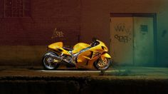 Yellow Sports Bike