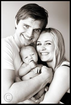 newborn family picture