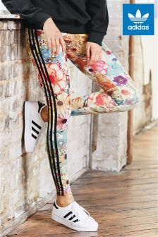 7fc188d9ab8ab Multi adidas Originals X Farm Floral 3 Stripe Legging. The floral pattern on  these originals leggings looks 'off the charts' cool! Think I'd… | Clothes  in ...
