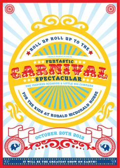Carnival of Fun with Little Big company and Inspired Occasion Carnival and Circus Design Invitation