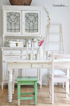 Vintage Tische   Wunderschöner Antiker Esstisch   Ein Designerstück Von  Bleuetrose Bei DaWanda Holztisch Vintage,