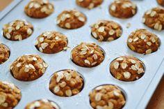 The Art of Comfort Baking: Mini Pumpkin Banana Oat Muffins #kidapproved #recipe #muffins #cleaneating