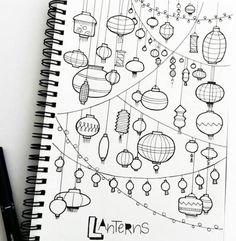 Do Bullet Journal dodawajcie też rysunki wyrażające co myślicie/ czujecie/ chcecie zachować :)