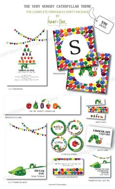 The Very Hungry Caterpillar Printables (The complete collection). $93.50, via Etsy.