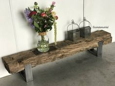 Timber Furniture, Outdoor Furniture, Outdoor Decor, Muebles Living, Console Table, Home Projects, Beams, New Homes, Rustic
