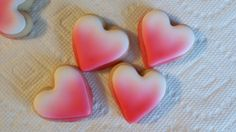 Ombre mini heart sugar cookies by jaynessugarshack on Etsy, $12.00