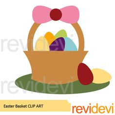 Easter Basket Free Clipart