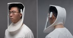 X-hood is a lightweight, comfortable, and disposable face shield created by singapore-based multidisciplinary creative agency, stuck design.