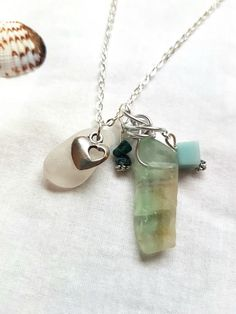 Natural row fluorite bead and genuine white glass charm necklace | Jewellery & Watches, Costume Jewellery, Necklaces & Pendants | eBay!