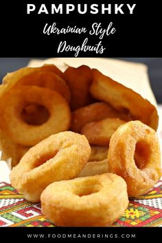 These Pampushky (Ukrainian style Doughnuts) are a traditional yeast doughnut, just like my Baba used to make. Made without filling, these Ukrainian donuts are light and delicious and sprinkled with… More Donut Recipes, Healthy Dessert Recipes, Easy Desserts, Cookie Recipes, Delicious Desserts, Healthy Sweets, Vegetarian Recipes, Ukrainian Recipes, Ukrainian Food