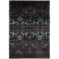 "Contemporary Silk Rug - 9'9""x13'11"""