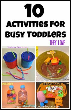 10 Activities For Busy Toddlers by FSPDT great ways to keep my little guy busy