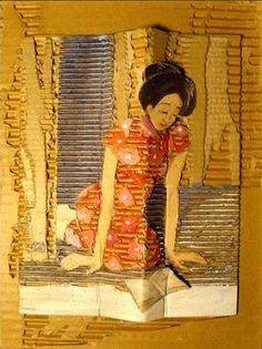 Amadieu, Françoise (1948-...) Liseuse à la robe à fleur