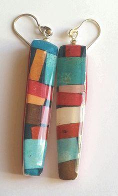 https://flic.kr/p/FGhkL2 | DUMA earrings | Polymer clay
