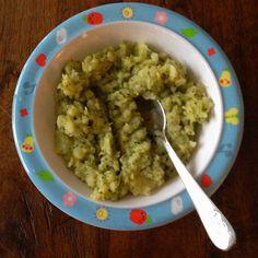 Broccoli met aardappel, roomboter en amandelmelk