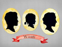 Custom Watercolor Silhouette  Family Banner 85x11 by FlavorPink, $50.00