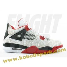Discount Air Jordan 4 retro laser white varsity red black