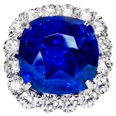 An Incredible 37.48 Carat  Ceylon Sapphire Ring | From a unique collection of vintage solitaire rings at http://www.1stdibs.com/jewelry/rings/solitaire-rings/