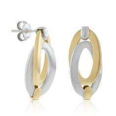 Toscano Double Link Oval Earrings 18K Italian Style, Sculpture, Mirror, Bracelets, Earrings, Gold, Jewellery, Link, Collection
