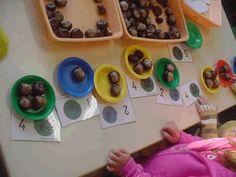 Avec des marrons, en maternelle