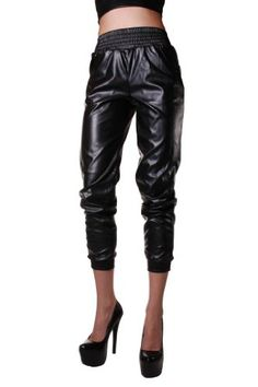 Red Fox Womens Faux Leather Jogger Pant $34