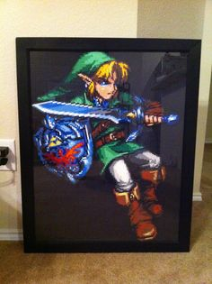 coolest thing ever!  Adult Link Perler by ~powerranger02 on deviantART