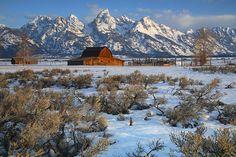 Spring Thaw Mormon Row : Mormon Row - Grand Teton National Wyoming