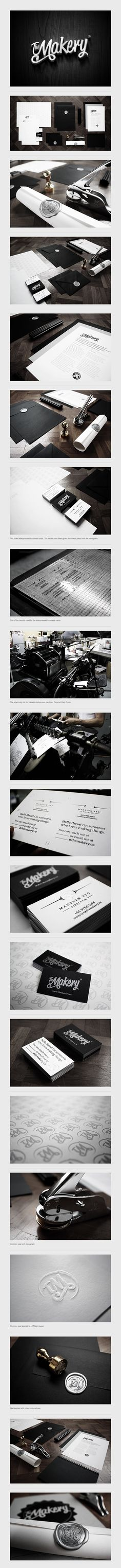 The Makery / David Goh / prachtige uitwerking van huisstijl Brand Identity Design, Corporate Design, Corporate Identity, Graphic Design Typography, Graphic Design Illustration, Visual Identity, Branding Design, Logo Design, Web Design