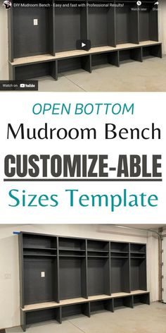 Build your own mudroom bench in any length and different depths with our free customizable open bottom mudroom bench template! #anawhite #mudroom #mudroomdesign #diy #mudroombench #anawhiteplans Diy Wood Projects, Woodworking Projects, Do It Yourself Decorating, Wood Home Decor, Diy Home Decor, Diy Furniture Plans, Paper Houses, Custom Cabinetry, Ana White
