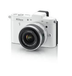 Nikon 1 V1 10.1 MP HD Digital Camera with 10-30mm VR 1 NIKKOR Lens (White): NIKON: Camera & Photo