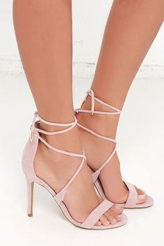 LULUS Romy Dusty Rose Lace-Up Heels at Lulus.com!