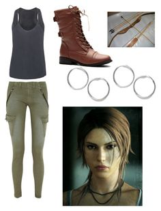 """Lara Croft tomb raider inspired outfit"" by senpai-chan ❤ liked on Polyvore featuring rag & bone/JEAN and LARA"