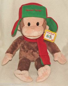 Christmas Holiday Curious George Plush from Gund (4038198)  - Available at Connected Concepts e-Commerce Shop at eBay Stores