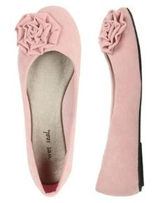 Rose Faux Suede Flat