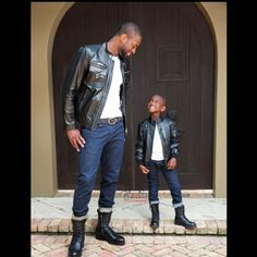 Dwayne Wade and his son