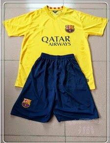506fa0e9f Buy Barcelona Away Yellow Children s Whole Kit(Shirt+Short+Sock) from  Reliable Barcelona Away Yellow Children s Whole Kit(Shirt+Short+Sock)  suppliers.