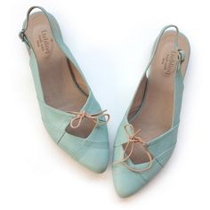 Suki Mint Shoes. Handmade leather Flats. (8,875 PHP) ❤ liked on Polyvore featuring shoes, flats, leather flats, leather flat shoes, leather shoes, mint flats and mint green shoes