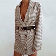 Oversized Blazer Gucci Belt Stylish Dressy Outfit Inspo Ideas Styled Up Night Out Fashion Inspo Mode Outfits, Fashion Outfits, Womens Fashion, Fashion Tips, Fashion Trends, Blazer Fashion, Fashion Essay, Gucci Outfits, Fashion Websites