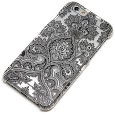 Black Paisley Damask Floral Mandala Henna Phone Case iPhone 6, 7 $15