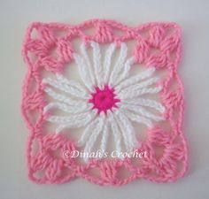 Flower Granny Square Patterns | crochet cone flower granny square pattern pattern asal klik craftside