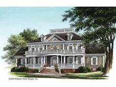 NeoClassical House Plan with 3618 Square Feet and 4 Bedrooms(s) from Dream Home Source | House Plan Code DHSW55256