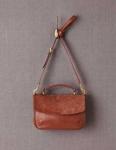 Leather Shoulder Bag.