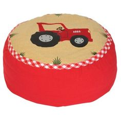 Win Green - Unique Playhouses & Embroidered Gifts for Kids Childrens Bean Bags, Kids Bean Bags, Childrens Beds, Kids Bags, Tractor Bed, Red Tractor, Green Barn, Big Red Barn, Kids Bedroom Dream