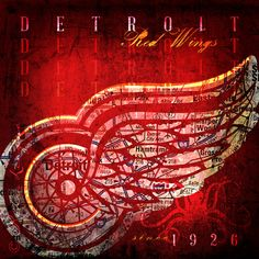 Detroit Red Wings City Map - Perfect Birthday, Anniversary, Groomsmen or Father's Day Gift for Diehard Red Wings Fan - Unframed Print on Etsy, $24.00
