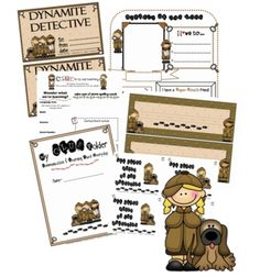 Your sleuths will love this mysterious classroom theme set!You will receive:*fillable newsletter*fillalbe weekly lesson plan template*the. Classroom Decor Themes, Classroom Activities, Fillable Calendar, Detective Theme, Weekly Lesson Plan Template, Preschool Rooms, Binder Folder, Spy Party, Spy Kids